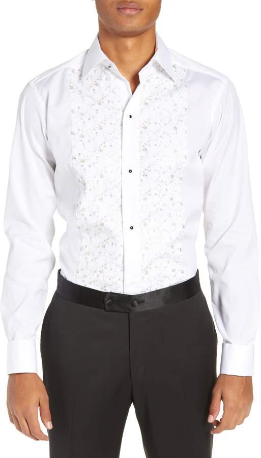 Eton Slim Fit Embroidered Tuxedo Shirt