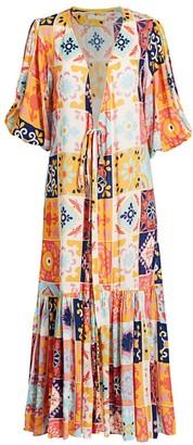 Carolina K. Debra Tile Print Robe