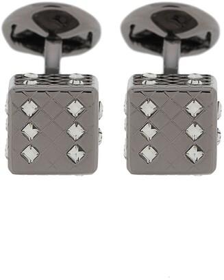 Tateossian Dice crystal-embellished cufflinks