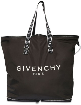 Givenchy Logo Print Packable Nylon Tote Bag