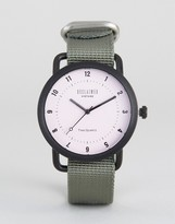 Reclaimed Vintage Gray Canvas Watch
