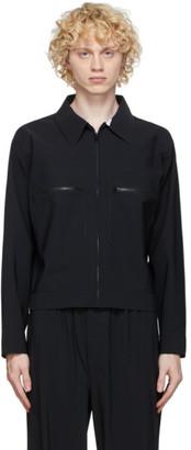 GR10K Black Bonded Blouson Jacket