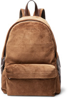 Men Suede Backpack - ShopStyle
