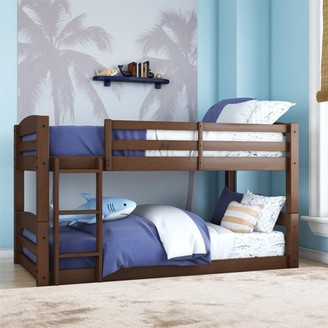 Better Homes & Gardens Better Homes and Gardens Tristan Twin Bunk Bed, Mocha