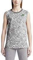 Nike Women's Muscle Sport Casual Tank Top-Carbon Heather-Medium