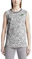 Nike Women's Muscle Sport Casual Tank Top-Carbon Heather-XS