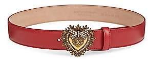 Dolce & Gabbana Women's Devotion Heart Leather Belt