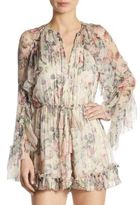 Zimmermann Mercer Floating Floral Silk Romper