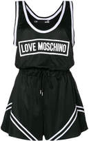 Love Moschino logo print playsuit