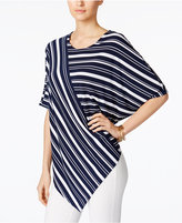 Alfani Striped Dolman-Sleeve Top, Only at Macy's