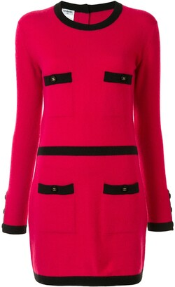 Chanel Pre Owned 1995 CC-buttons knitted dress