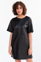 Silence & Noise Silence + Noise Leather Boxy Mini T-Shirt Dress