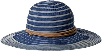 San Diego Hat Company Women's 4-inch Brim Ribbon Floppy Sun Hat with UPF Protection