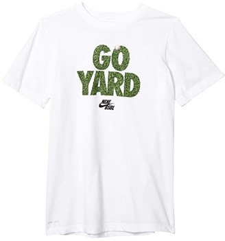 Nike Kids Dry Go Yard Tee (Little Kids/Big Kids) (White) Boy's Clothing