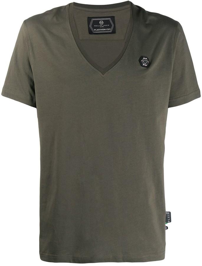 Philipp Plein V-neck logo T-shirt