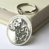 Nicola Crawford Personalised Silver Pet Photo Keyring
