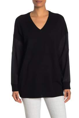 Magaschoni Silk & Cashmere V-Neck Sweater
