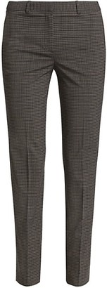 Theory Hartsdale Plaid Cigarette Trousers