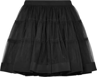 Moschino Satin-trimmed Tulle Mini Skirt