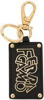 Salvatore Ferragamo logo plaque keychain