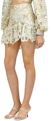 Acler Meredith Scalloped Cutout Mini Skirt