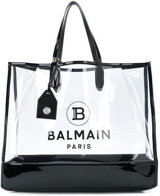 Balmain Large Logo Shopping Tote Bag
