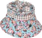 Maison Michel Pleated Flower Gingham Erin Bucket Hat