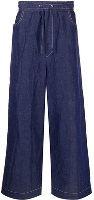 Sunnei Elastic Waist Loose Jeans