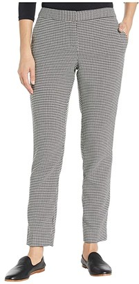 Vince Camuto Houndstooth Ankle Pants (Rich Black) Women's Casual Pants