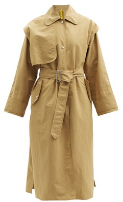 2 Moncler 1952 - Coral Single-breasted Shell Trench Coat - Tan