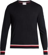 Moncler Gamme Bleu Crew-neck cashmere-blend sweater