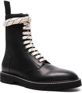 Maison Margiela Light Brushed Leather Combat Boots