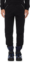 Hood by Air Men's Zip-Gusseted Cotton Sweatpants-BLACK