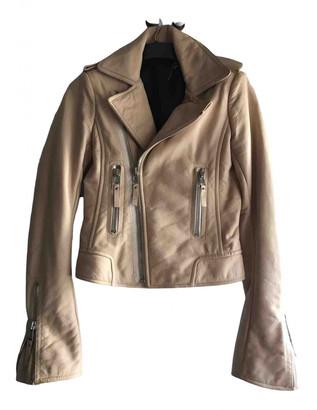 Balenciaga Ecru Leather Jackets