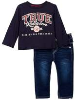 True Religion Branded Long Sleeve Tee & Jeans Set (Baby Boys)