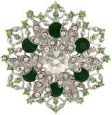 Ever Faith Silver-Tone Crystal Elegant Flower Corsage Brooch Pendant - 2 Inch x 2 Inch N05807-5
