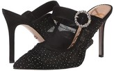 Sam Edelman Halo (Black/Gold Ruched Glitter Tuller/Kid Suede Leather) Women's Shoes