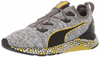 Puma Men's Hybird Runner Sneaker Black White-Blazing Yellow 8 M US