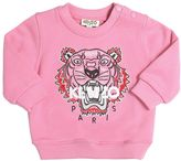 Kenzo Tiger Embroidered Cotton Sweatshirt