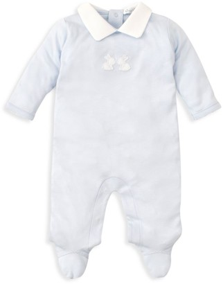 Kissy Kissy Baby Boy's Pique Baby Bunny Collared One-Piece
