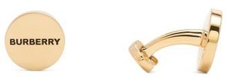 Burberry Logo-engraved Cufflinks - Gold