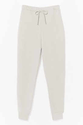 Nasty Gal Womens There Chances Are Slim High-Waisted Joggers - Black - 8