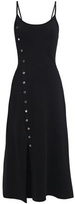 Sandro Walace Button-embellished Knitted Slip Dress