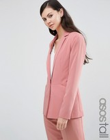 ASOS Tall ASOS TALL Soft Lux Longerline Occasion Blazer