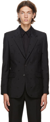 Givenchy Black Embroidered Evening Blazer