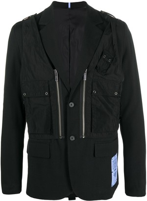 Mcq Swallow Cargo-Pocket Blazer