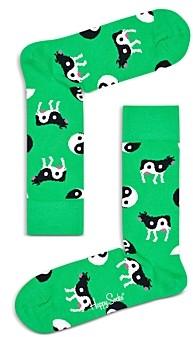 Happy Socks Ying Yang Cow Print Socks