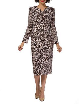 GIOVANNA SIGNATURE Giovanna Signature Animal Skirt Suit-Plus