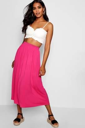 boohoo Basic Jersey Full Midaxi Skirt