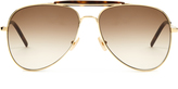 Saint Laurent Double-bridge aviators